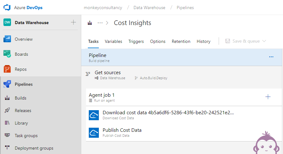 DevOps - Azure Cost Insights - Build pipeline