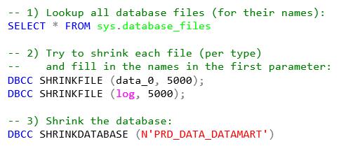 How to shrink an Azure SQL Database