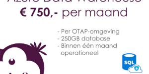 Azure DWH Framework costs per month